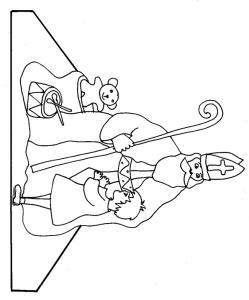 Imprimer le modèle de saint Nicolas à colorier et monter