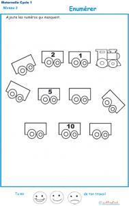 de numération de 1 à 11 sur les wagons
