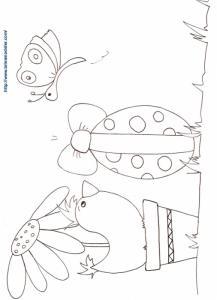 Coloriage de Pâques l'oeuf et la poule