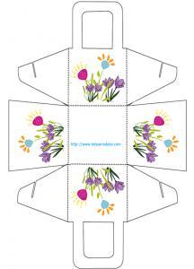 Panier a cadeau décoré de fleurs