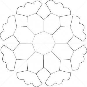 Modèle de Panier pétales de fleur