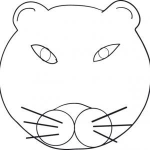 coloriage d'une tête de panthère