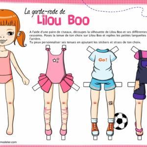 Lilou Boo la petite poupée en papier