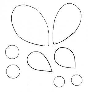 Imprimer le modèle des décorations d'ailes de papillon de papier