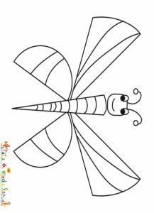 Coloriage papillon aux formes géométriques