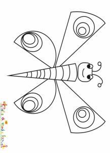 Papillon à gros ronds sur les ailes