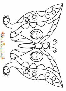 Coloriage d'un papillon au motif complexe