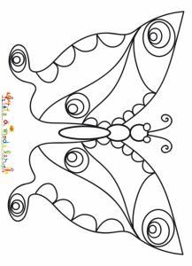 Joli papillon au printemps