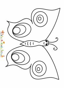 Coloriage simple d'un papillon