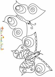 Dessin d'un duo de papillons