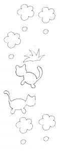 Imprimer les modèles pour la grosse pendule chats