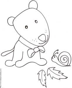 Coloriage chien manga et escargot