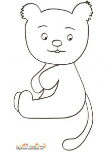 Coloriage petit ours assis