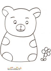 Coloriage petit ours dessin 5