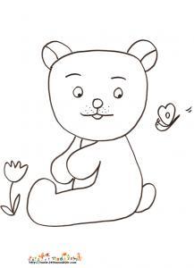 Coloriage petit ours dessin 6