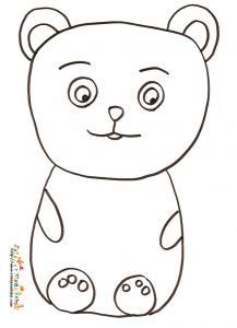 Coloriage petit ours dessin 7