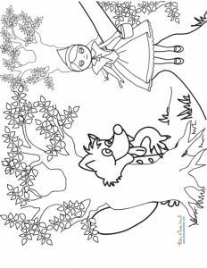 Le loup guette le petit chaperon rouge