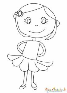 Petite fille à la jupe corolle