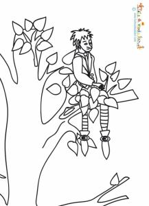 Le vaillant petit tailleur assis dans l'arbre