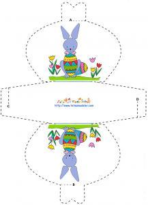 Pochette petit lapin à imprimer pour les bonbons