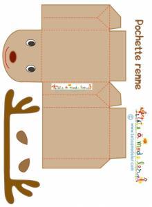 Pochette renne prête à imprimer