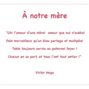 A notre mère de Victor Hugo
