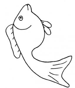 Coloriage d'un poisson d'avril 3