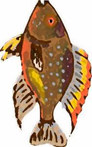 Imprimer le poisson d'avril à découper 1