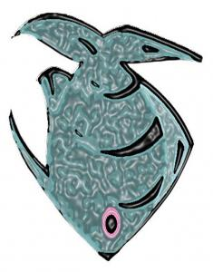 Gros poisson gris bleu