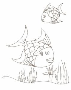 coloriage poissons arc en ciel 2