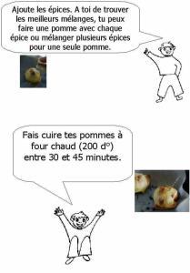 Fin de la recette des pommes au four