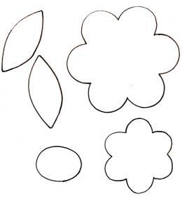 Imprimer le gabarit pour le petit pot de fleur