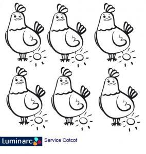 Poules Cotcot Luminarc à imprimer