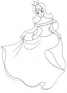 Coloriage d'une princesse