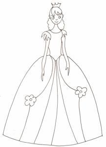 coloriage d'une princesse 11