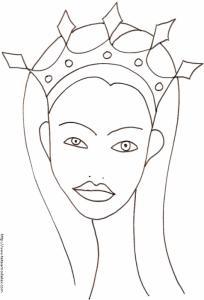 princesse : Portrait de la princesse au diadème losange