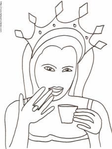 Une princesse buvant du thé