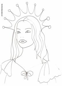Coloriage du portrait de la princesse des glaces dessin 33