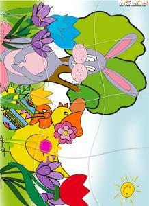 Puzzle du lapin de Pâques