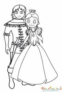 Raiponce dans les bras du prince