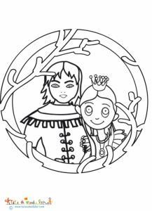 Coloriage du portrait du prince et Raiponce