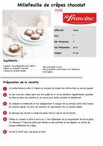Millefeuille de crêpes chocolat