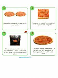 Suite de la recette de la tarte à la tomate illustrée
