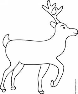 Coloriage du grand renne