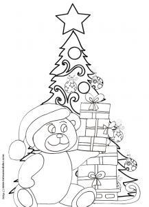 Coloriage du sapin de Noël