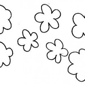 Imprimer le modèle fleurs découpées scrapbooking 2