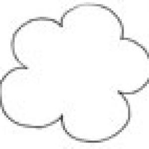 Imprimer le modèle petites fleurs découpées scrapbooking