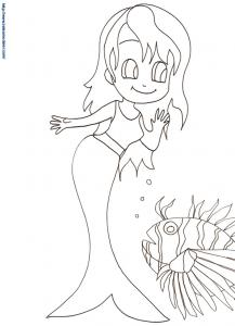Jeune sirène et gros poisson 18