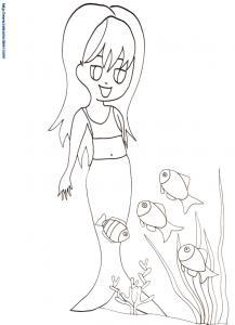 Sirène regardant les poissons 22