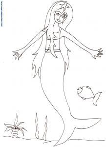 Sirène à l'étoile de mer